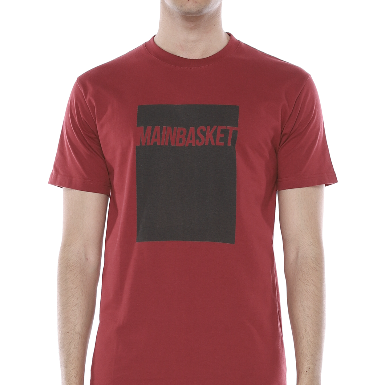 T-Shirt Box to Box - Maroon/Black