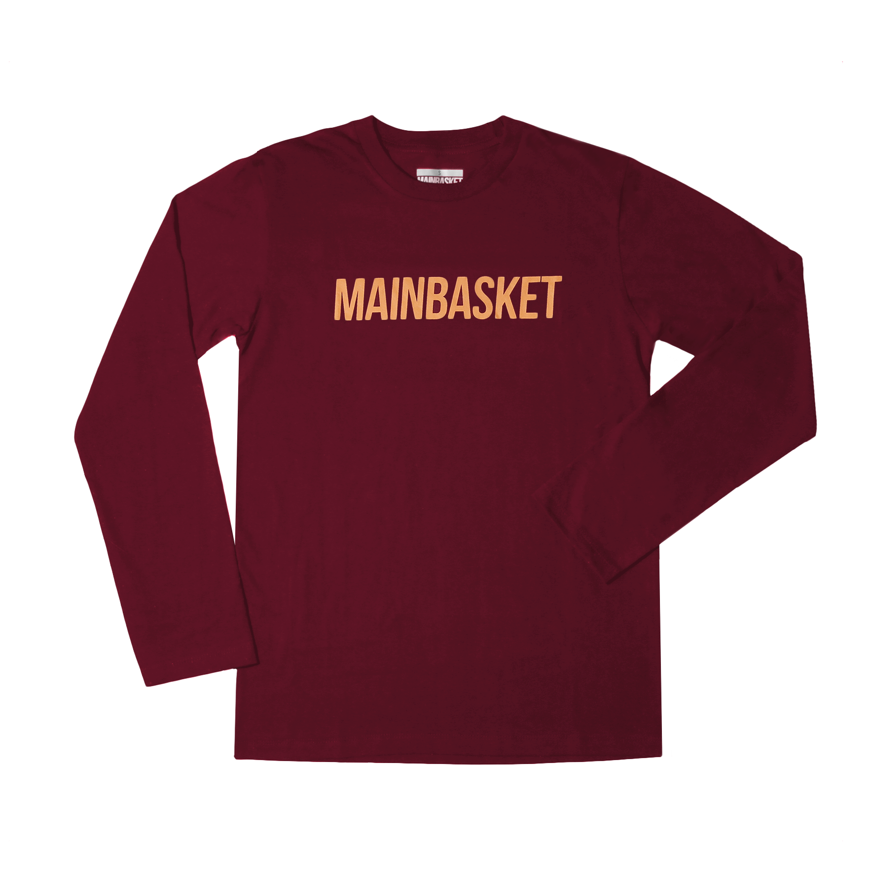 T-Shirt Basic Long Sleeve - Maroon/Orange