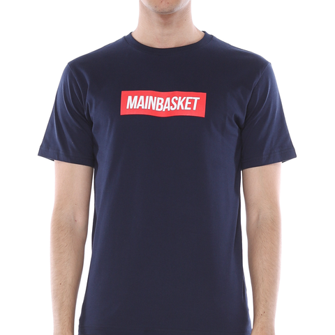T-Shirt Basic Logo Box - Navy/Maroon