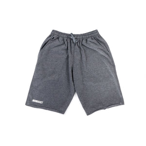 Short Pants Basic Unfinish - Dark Grey/White
