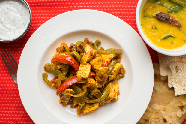 Spiced Paneer and Sautéed Peppers