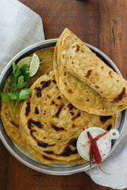 Hand-rolled Indian flatbread Parathas