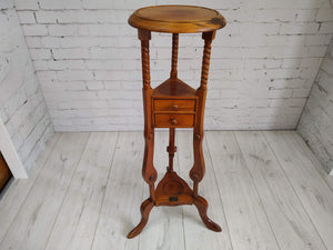 Vintage Mahogany Hall Table Console Table Plant Stand Tall Table Antique Drawer