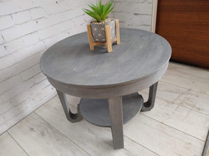 Vintage Grey Shabby Chic Hall Table Side Table Plant Stand Art Deco