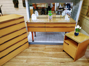 Mid Century Avalon Bedroom Set Dressing Table + Drawers + Cabinet Vintage Retro Teak 1960