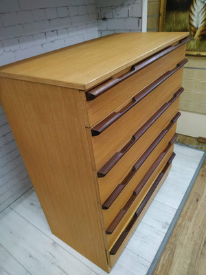 Mid Century Avalon Chest Drawers + Bedside Cabinet Set Vintage Retro Teak 1960