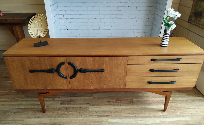 Mid Century Beautility Sideboard  Danish Style Refurbished