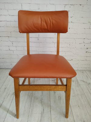 Vintage 2 x Dining Chairs Danish Style Beech 1960 Retro Mid Century