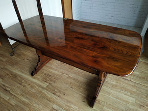 Vintage Ercol Dining Table Refectory Country Style Dark Wood Refurbished 155