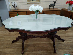 Vintage Italian Dining Table Upcycled Rococo Antique Style