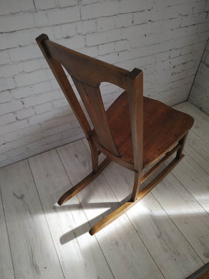 Antique Rocking Chair Webster for Child Petite Adult Wood
