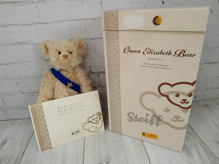 Vintage Steiff Teddy Bear - Queen Elizabeth Limited Edition