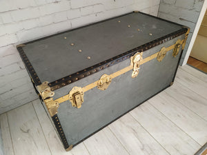 Vintage Trunk Industrial Style Overpond Foundation 1950's