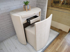 Compact Vintage Dressing Table / Vanity Unit  + Seat Mid Century Retro
