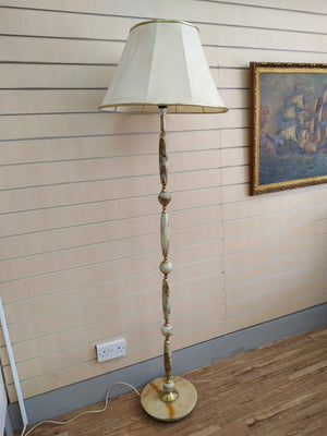 Vintage Floor Lamp Onyx Stand Antique Light 1930's Retro