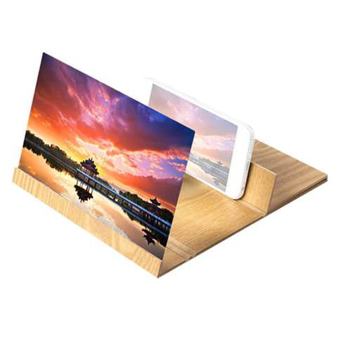 12 Inch Wooden Phone Screen Enlarger