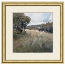 Load image into Gallery viewer, Green Plains. Wendover Art. Elsie Home. Framed art for the home. Custom framed art. Landscape painting. Framed landscape art. California casual style art. Vintage inspired art.