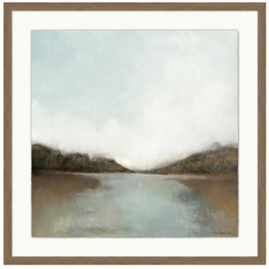 Reflections. Distant Light 4. Wendover Art. Elsie Home. Landscape art. Framed landscape art. Art for the home. California casual inspired art. California casual style. Home decor. Wall art.