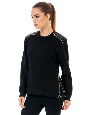 Sweatshirt with zipper