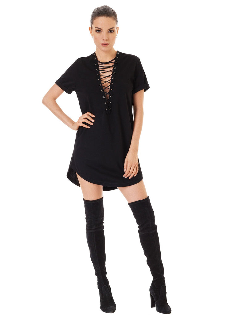 Oversize Lace Up T-shirt