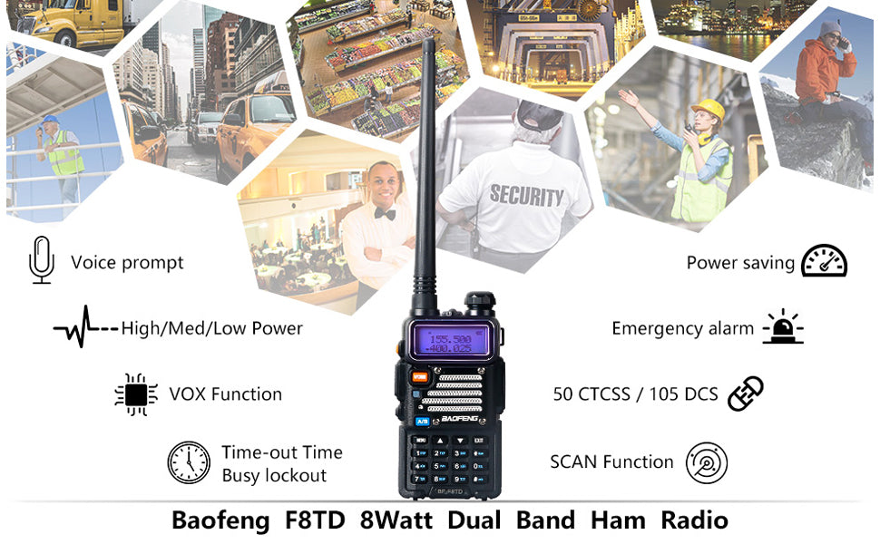 baofeng uv5r plus 8w high power dual band radio