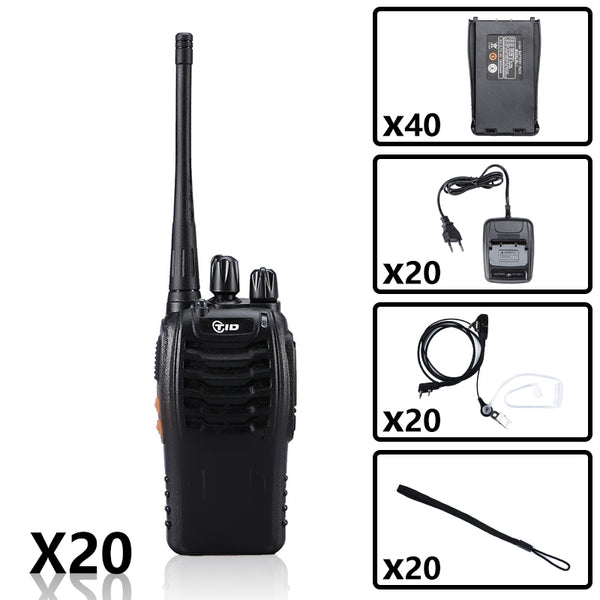TID TD-V2 UHF Radio Bundle ( 20PCS & 40 Li-ion battery pack )