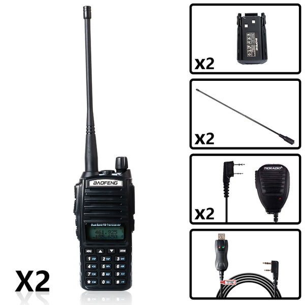 2PCS BaoFeng UV-82 8W High Power Radio