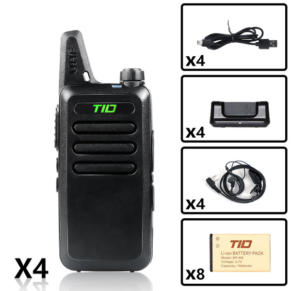 TD-M8 UHF Long Range Walkie Talkies( 4PCS )