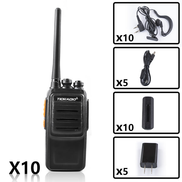 TIDRADIO TD-62 UHF Two Way Radio Bundle( 10PCS )
