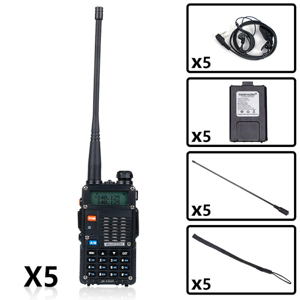 BF-F8GP 8W UHF+VHF Two Way Radio Bundle( 5PCS )