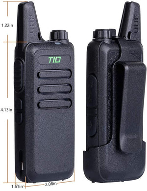 TIDRADIO TD-M8 Walkie Talkies Rechargeable Two Way Radio 16 CH VOX Walkie Talkies for Adults 2 Way Radio 2 Pack