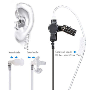10pcs Walkie Talkie Earpiece with Mic PTT Acoustic Tube
