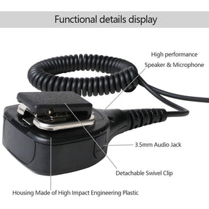 WALKIE TALKIE SPEAKER MIC COMPATIBLE FOR BAOFENG RADIOS