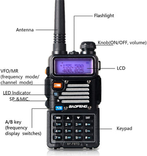BAOFENG UV-5R Plus BF-F8TD 8W High Power Radio