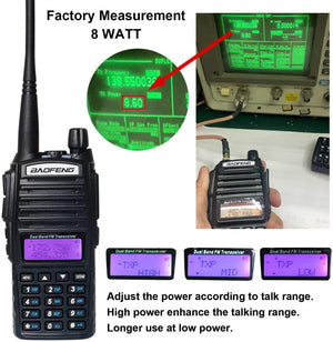 BaoFeng UV-82 BaoFeng Radio High Power Ham Radio 2 Way Radio with Driver Free Progrmming Cable and Long Antenna(5 Pack-Black)