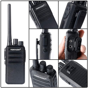 TIDRADIO TD-60 Two Way Radio 2 Way Radios Walkie Talkies Long Range 16CH 2 Way Radio with Earpiece 20 Pack