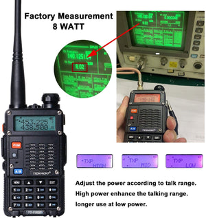 TIDRADIO TD-F9GP Ham Radio Handheld Upgrade UV 5R High Power Radio 2 Way Radio with Programming Cable(2Pack-Black)