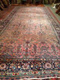 A Manchester Kashan rug from the early 1900s