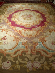 Antique French Aubusson Oversize Rug
