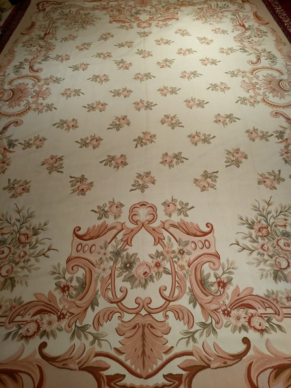 Vintage French Aubusson Oversize Rug