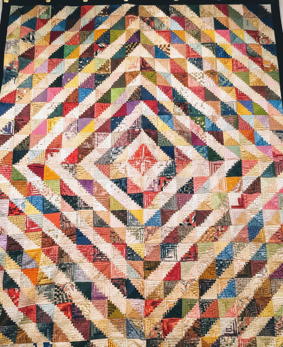 Antique American Silk Quilt