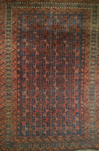 Vintage Persian Baluch Tribal Rug