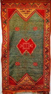 Vintage Moroccan Rug with Modern Design