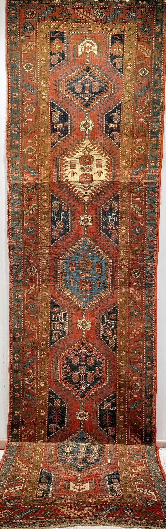 Antique Persian Heriz Runner