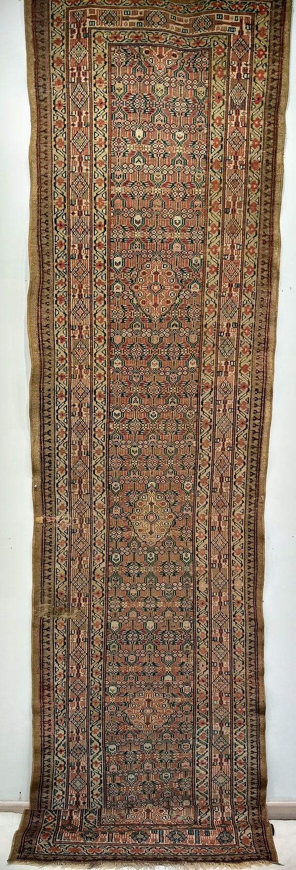 Antique Persian Serab Camelhair Runner