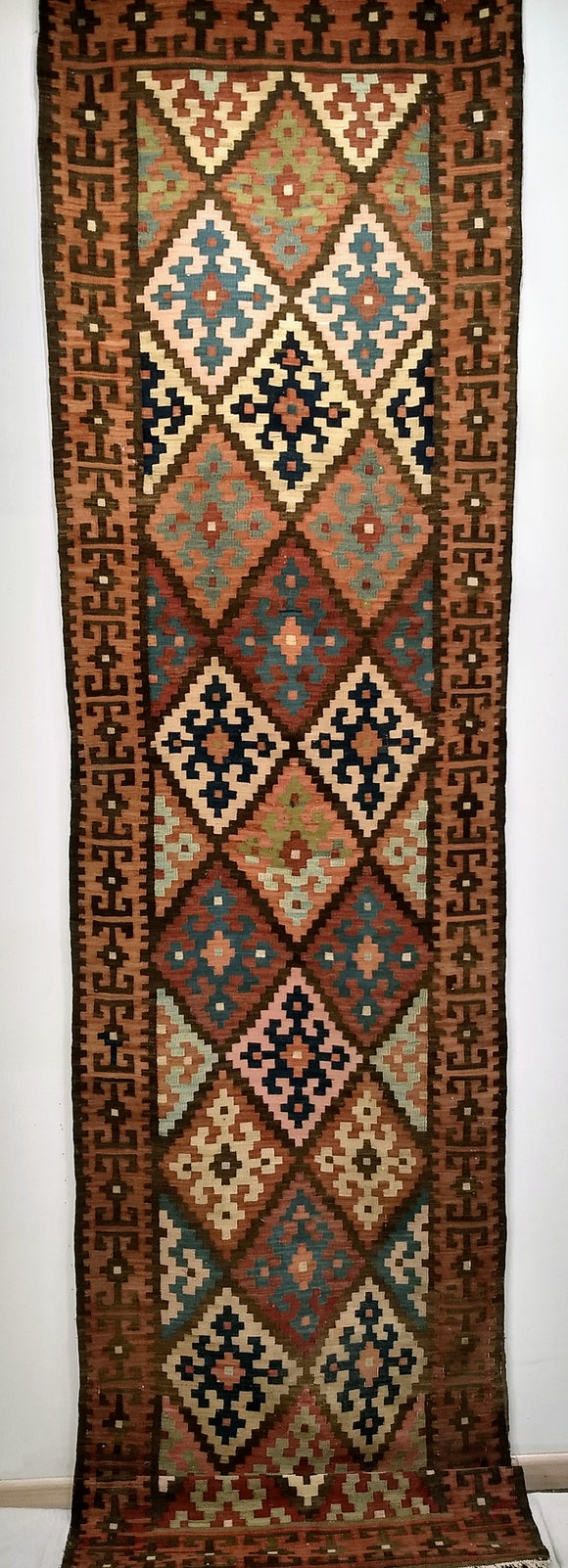 Antique Persian Varamin Kilim