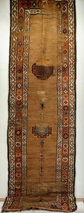 Antique Persian Kurdish Camelhair Runner
