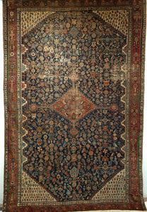 Antique Qashqai Gallery Rug