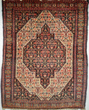 Antique Persian Senneh Area Rug
