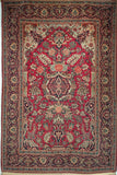 Antique Persian Kashan Area Rug